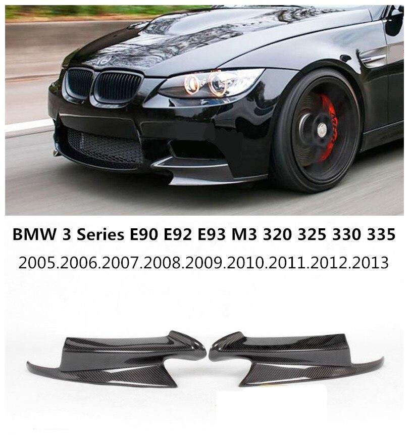 For BMW 3 Series E90 E92 E93 M3 2005-2013 Carbon Fiber Front Lip Spoiler High Quality Car Bumper Diffuser Free shipping