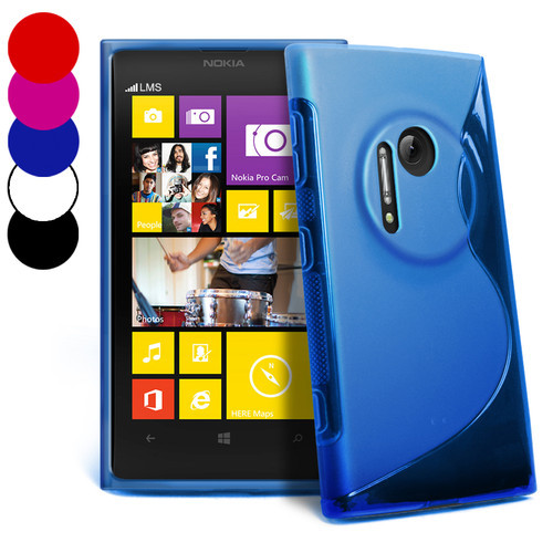 For Nokia EOS Lumia 1020 Case S Line Wave Soft Gel TPU Anti-skid Cover
