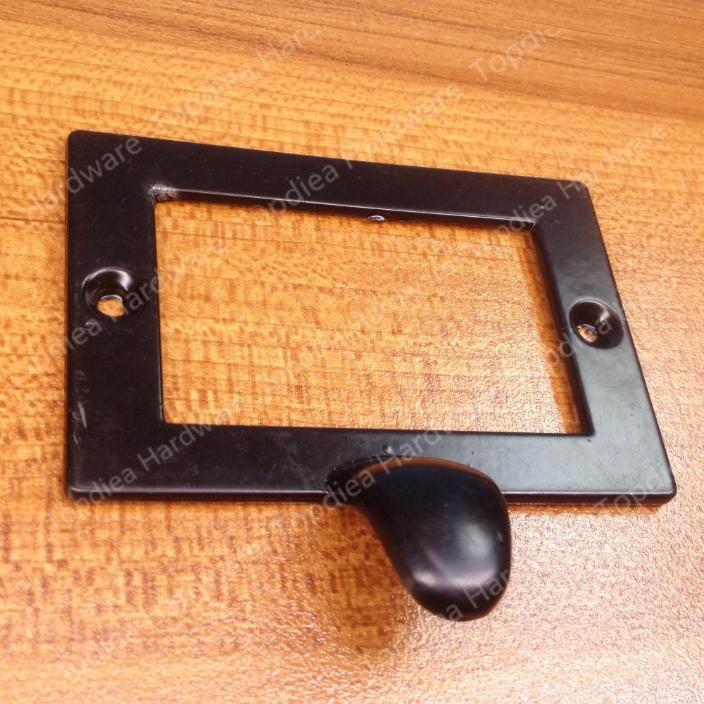 73*50mm Decorative Black Drawer Label Frames Pulls Hardware Large ...