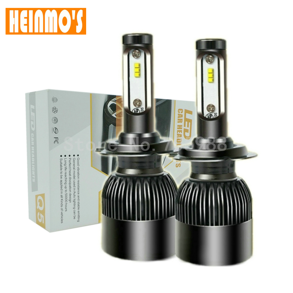 LED Headlight H8 h9 h11 Led Bulb Beam auto Automobile H3 9005 9006 Lamp Light H1 Auto COB CSP Chips 72W