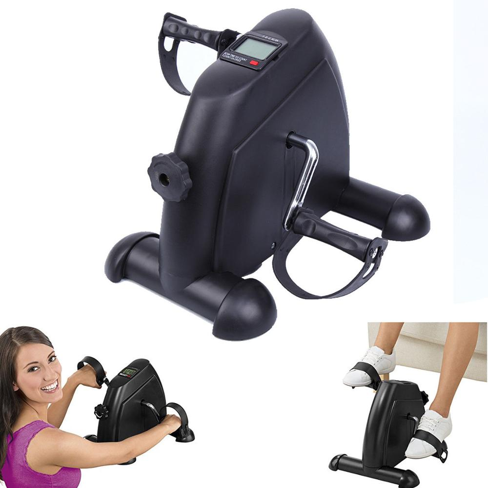(Ship From EU) Pedal Trainer Exercise Bike Arm Leg Trainer Exercise Trainer Mini LCD Bike Fitness