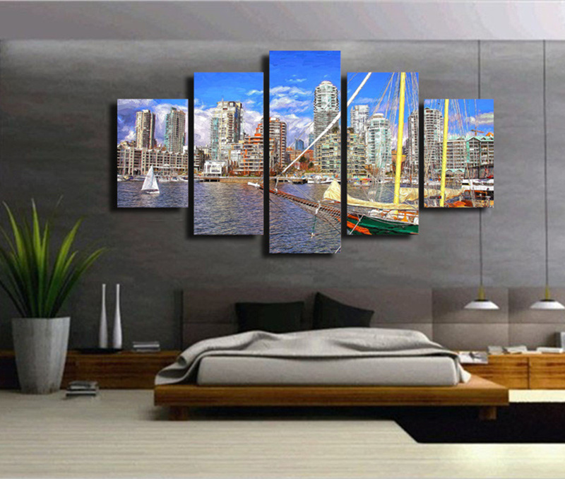 Aliexpress.Com : Buy 5Piece Wall Art Modular Tableau Picture