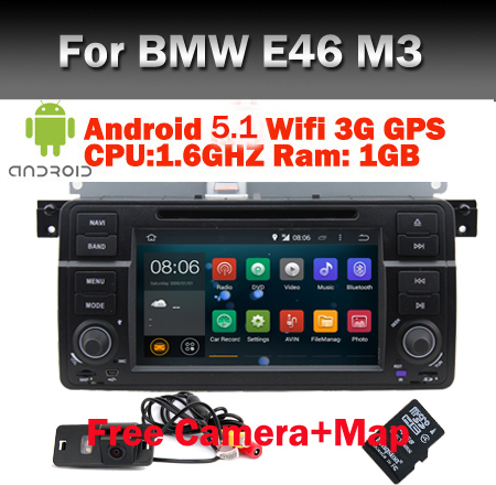100 pure android 5 1 car dvd gps for bmw e46 m3 gps. Black Bedroom Furniture Sets. Home Design Ideas