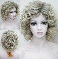 2015 Новая мода Блондинка Ломбер волос Высшего качества Вьющиеся Синтетический Парик Волос Бесплатная Доставка