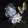 3g de Uñas de Colores Lentejuelas 3mm Triángulo Forma Brillo de Uñas Manicura Consejos Chispa Azul Belleza Cuidado de la Belleza de Uñas Decoraciones SZ02