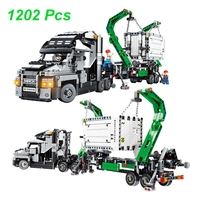 1202Pcs Container Truck Vehicles Car Technic MACK Cars Model Building Blocks Compatible Legoings DIY Bricks Toys Children Gift