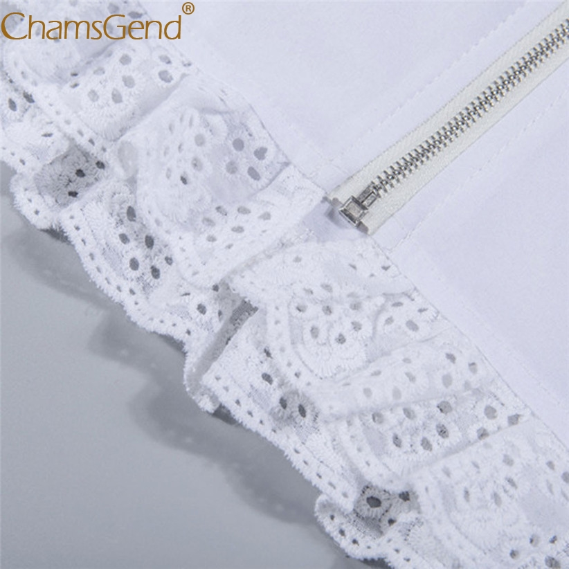 1d81ec7ae1ccd9 Chamsgend Newly Design Women Girls Sexy Ruffle Lace Crop Top White  Sleeveless Shirt Camis 80305-in Camis from Women's Clothing on  Aliexpress.com | Alibaba ...