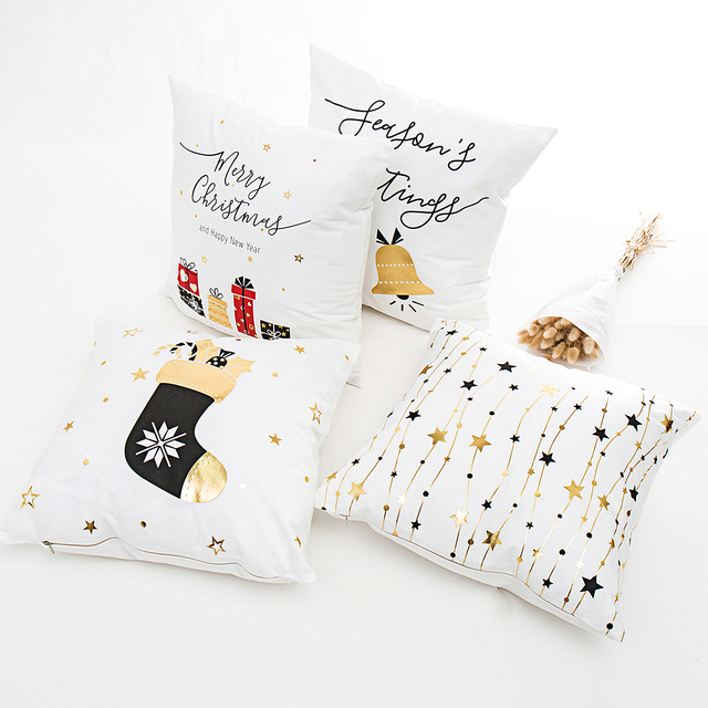 Overwatch Christmas 2019.Us 2 5 28 Off 45x45 Christmas Pillow Cases Home Decor Decorative Pillowcase Gold Merry Christmas Throw Pillows Cover Overwatch 2019 In Pillow Case