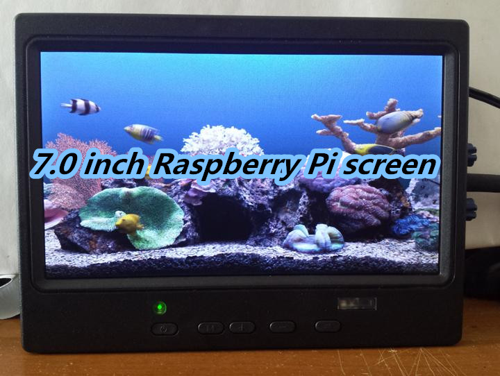 NoEnName Null 7 0 inch HD 1024 600 RaspberryPi Car display HDMI VGA AV TFT with
