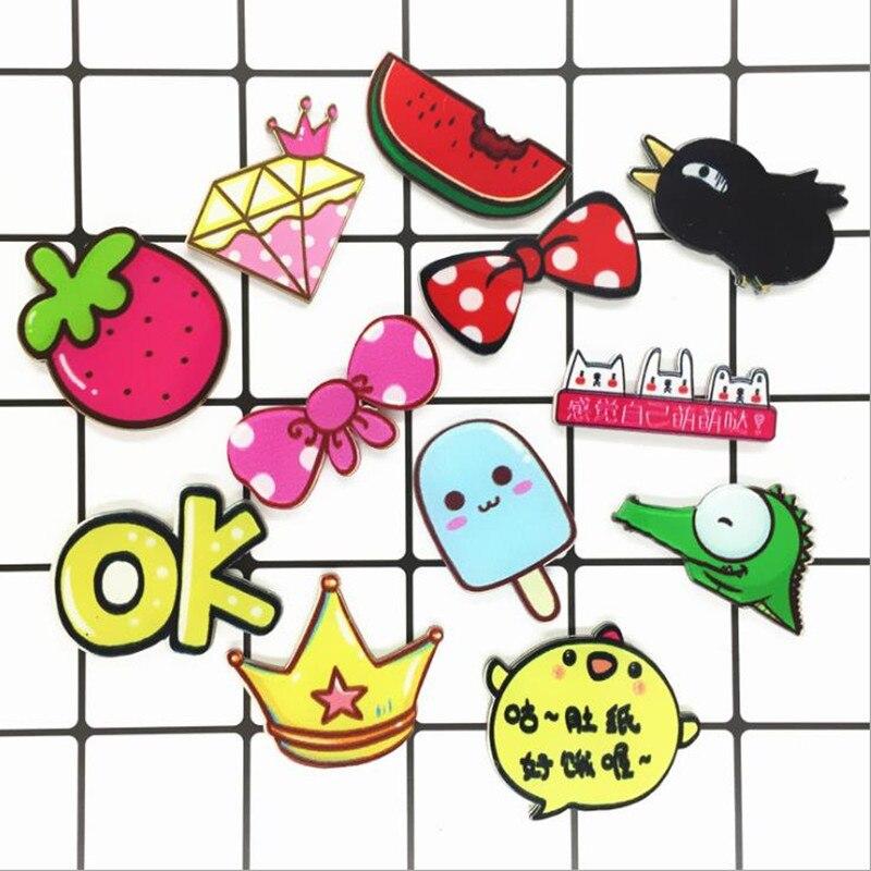 Fashion Cartoon Pin fruit food Badge Icons Pin Up Kawaii Icon Acrylic Gift for Anime Icons Acrylic Kid Clothes