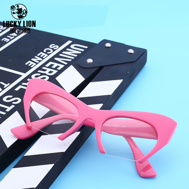 e79b7967c8 Hot Selling Street Snap Cat Eyes Half Frame Eyewear Sunglasses Women Retro  Vintage Fashion Trendsetter 9 Color To Selection