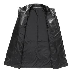 Image 3 - Gours Winter Echtem Leder Jacke für Männer Mode Marke Leder Schwarz Schaffell Lange Jacken und Mäntel Warme Neue Ankunft 4XL