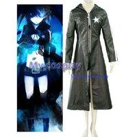Anime Vocaloid Cosplay costume Black Hatsune Miku Costumes Halloween Women Black Coat High quality Long Jacket