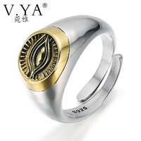 Wholesale 100 Real Pure 925 Sterling Silver Ring Thai Silver Ring Eye Of Providence Ring Free