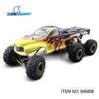 HSP RACING RC CAR NEW DESIGN 945806 SIX WHEELS ROCK CRAWLER 1/5 SCALE ELECTRIC POWER OFF ROAD REMOTE CONTROL CAR READY TO RUN