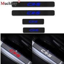 Автомобиль Стайлинг для MAZDA CX 5 CX-5 CX5 углеродного волокна виниловые наклейки автомобиль порога защитник порога автомобиля аксессуары 4 шт.