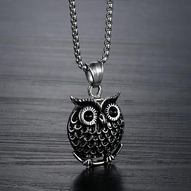 Owl necklace for women