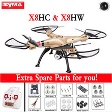 Syma X8HW X8HC 2.4G 4CH 6 Axis RC Helicopter Drone With WIFI 2MP HD Camera Dron with Altitude Hold and Headless Mode RTF