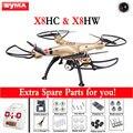 Syma X8HW X8HC 2.4G 4CH 6 Eixo RC Helicóptero Robô Com WI-FI Câmera de 2MP HD Dron com Altitude Espera e Modo Headless RTF