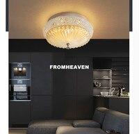 D35cm/D45cm K9 с украшением в виде кристаллов потолочный светильник золотой потолочный светильник лампа заподлицо Гарантировано 100% AC светодиодн