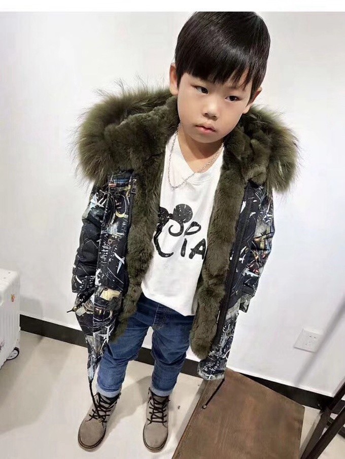 child winter real fur parkas coat (37)