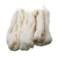 100 г кремовое белое Шерстяное волокно иглы для валяния шерстяных топов ровинг прядение ткачество для ручная работа, сделай сам, ремесло, кукла для валяния шерсть