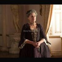 Элегантный Belle коричневый фильм Театр ТВ Хэллоуин Ultimate Marie Antoinette Dress Colonial грузинской regencydress HL 59
