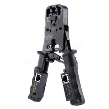 2 in 1 RJ45 Network LAN Cable Crimper Pliers Cutting Tool Cable Tester Cable Pliers 6P