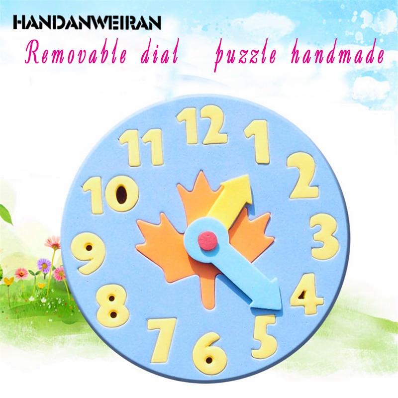 2018 New Baby Kids Eva Foam Toys Clock Number Puzzle Baby -7275