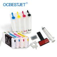 Sistema de Abastecimento Contínuo de Tinta Para Impressora Epson T7011-T7014 T0711XL WP-4015 WP-4025 WP-4515 WP-4525 WP-4535 CISS Cartucho De Tinta De 4 Cores/Set