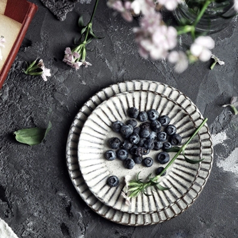 Western Salad Dishes: KINGLANG Stoneware Creative Western Steak Dish Home Fruit