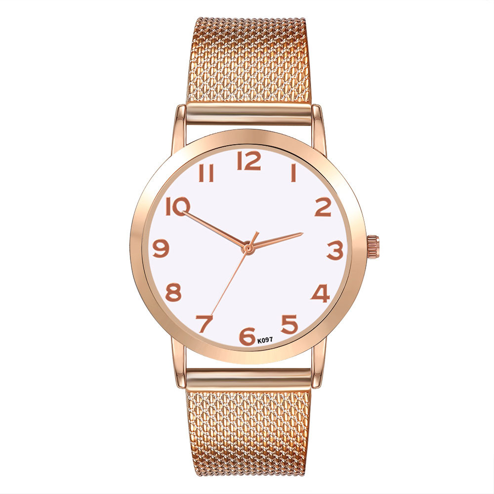Women Watches Round Dial Fashion Mesh Strap Ladies Watch Casual Dress Analog Quartz WristWatch Gift Clock Relogio Feminino #W