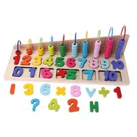 1Pc Wooden Number Maths Counting Abacus Bead Kids Educational Calculating Toy Gift Wooden Abacus