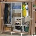 Большой шкаф Двойной человек простой Современный шкаф Минималистский Стали складывать ткань Оксфорд шкаф