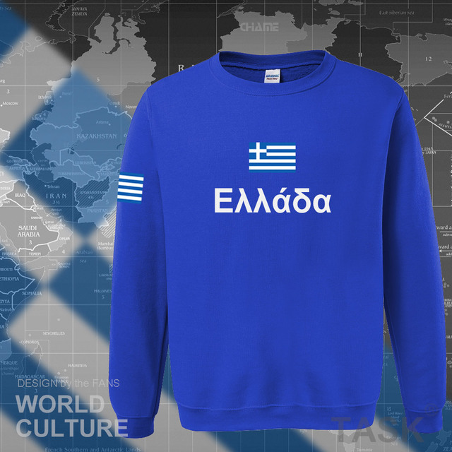 Greece hoodies men sweatshirt sweat new hip hop streetwear socceres jerseyes footballer tracksuit nation Greek flag Hellas GR