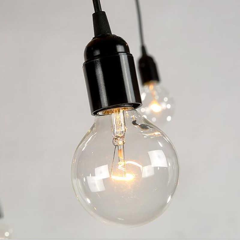 Hiện Đại Lớn Nhện Công Nghiệp Đen Vintage Mặt Dây Chuyền Đèn Đèn Chùm LED 14 Đầu E27 Treo Đèn Cho Phòng Khách Nhà Hàng Nhà Bếp