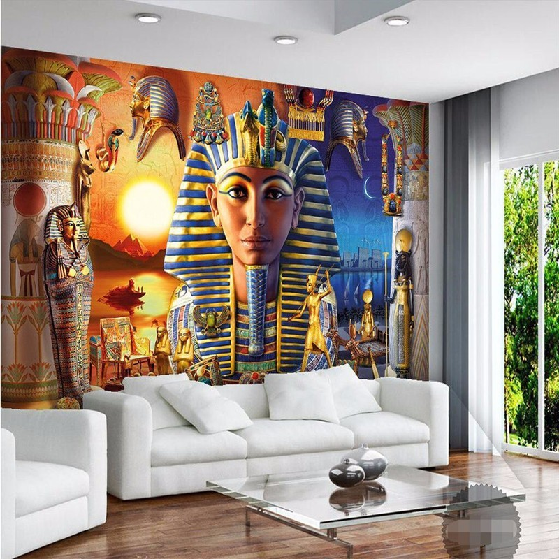 Aliexpress Buy Beibehang 3D Wallpaper Mural Decoration Backdrop Modern Egyptian Culture Ancient Civilization Art Restaurant Custom From