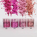 1mm Rose Red Gradient Nail Glitter Dust Powder Sequins Powder For Manicure DIY Nail Art 3D Decoration Tools 10ml