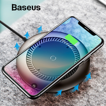 Baseus tornado Wireless Charger Silent fan Automatic radiating Qi Wireless Charging Charger For iPhone X 8 Samsung S9 S8 Huawei