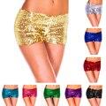 9 Mujeres de Color Caramelo Pantalones Cortos de Verano de Las Señoras Lentejuelas Brillantes Shorts Panty Sexy Pole Dance Costume Discoteca Cadera del Paquete desgaste