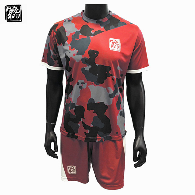 bf7937b8c Professional custom adult soccer jersey camouflage blank for free add  digital name logo