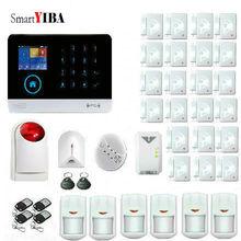 SmartYIBA WIFI Home Alarm System 3G WCDMA GPRS APP Remote Control Wireless Home Security Burglar Alarm Gas Smoke Fire Sensor