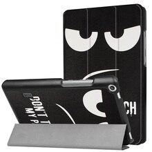 Folio caso de la cubierta trasera dura para Huawei MediaPad T3 7.0 BG2-W09 Smart Cover Funda Tablet para Honor Juego Pad 2 7.0 + Film + Pluma