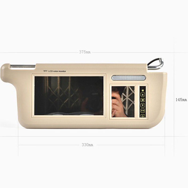 Touch 7inch Car Sun visor DVD/TV Media Screen&Rear View Silver Backup Monitor/Camera kits touch 7inch car sun visor dvd tv media screen&rear view silver backup monitor camera kits