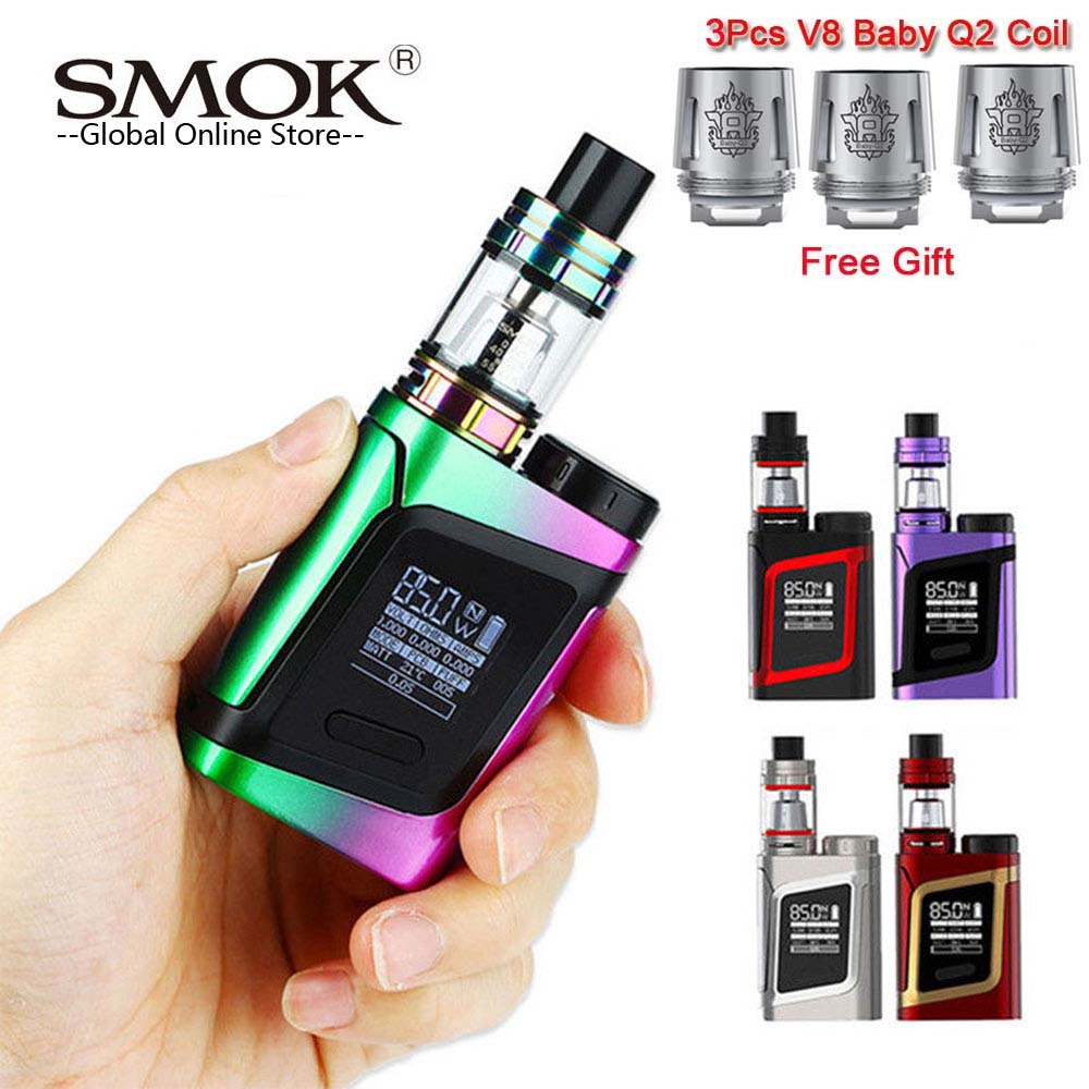 все цены на Electronic Cigarette SMOK Alien AL85 Kit with 3ml TFV8 Baby Tank & 85W Alien AL85 Mod Vape Kit vs SMOK Alien 220w Mag kit онлайн
