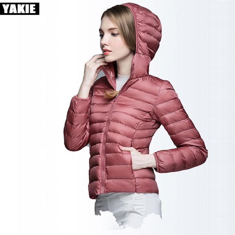 2017 New Women Winter   Coat   Slim 90% White Duck   Down   Jackets Plus Size Female Hooded   Down     Coat   Portable Warm Outerwear