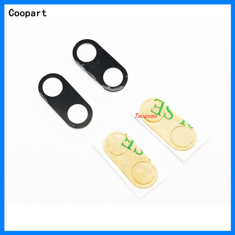 2pcs/lot Coopart New Back Rear Camera Lens Glass Replacement For Xiaomi Mi A1 5X Mi5X MiA1 M5X With Sticker