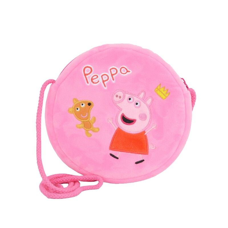 Genuine Peppa Pig George Pig Plush Toys Kids Girls Boys Kawaii Kindergarten Bag Backpack Wallet Money School Bag Phone Bag Dolls 2