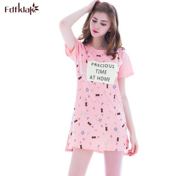 Summer Sexy Lingerie Hot Short Sleeve Women Cotton Sleepwear Long Womens  Nightgowns Plus Size Nightgown Set Nightwear M-XXL Q131 1f7f85ecb