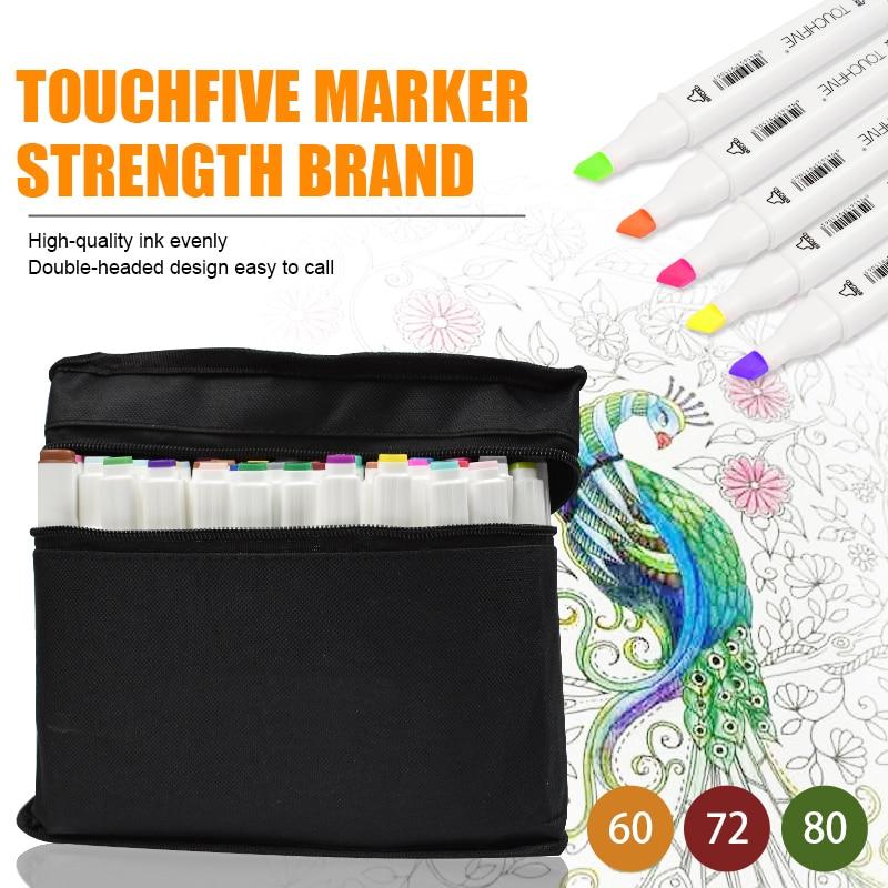 TOUCHFIVE/30/40/60/80 Color profesional arte marcador para Manga Anime Comic dibujo de diseño proveedor de arte dual manejar Sketch marcador